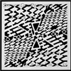 Grid Stencil by Cecilia Swatton