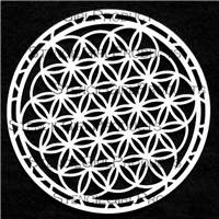 Flower of Life Stencil by Mary Beth Shaw