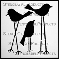 Tall Birds Stencil by Terri Stegmiller