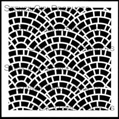 Fishscale Brick Stencil   Lizzie Mayne