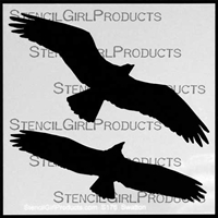 Osprey Wings Stencil