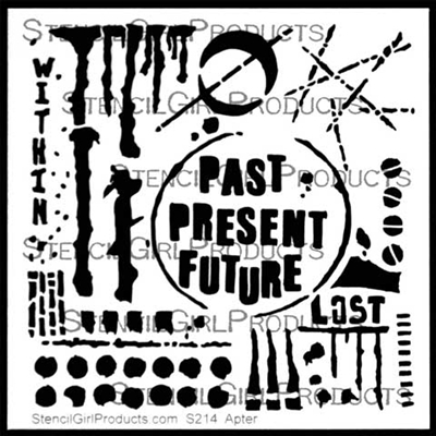 Past Present Future Stencil by Seth Apter