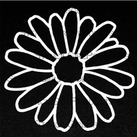 Doodle It Daisy Stencil by Maria McGuire