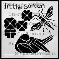 In the Garden Stencil by Roxanne Evans Stout