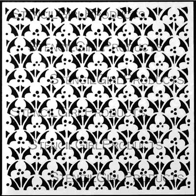 Ornamental Floral Screen Stencil by Gwen Lafleur