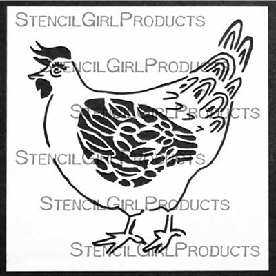 Farmhouse Chicken Stencil by Cathy Nichols