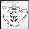 Farmhouse Teapot Stencil by Cathy Nichols