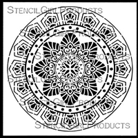 Art Deco Flower Medallion Stencil by Gwen Lafleur