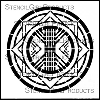 Art Deco Medallion Stencil by Gwen Lafleur