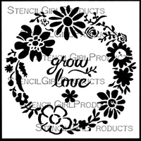 Woodland Floral Wreath Stencil by Jennifer Evans