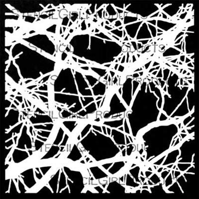 Bare Branch Thicket Stencil by Trish McKinney