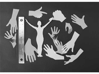 Hands StencilGuts Shapes