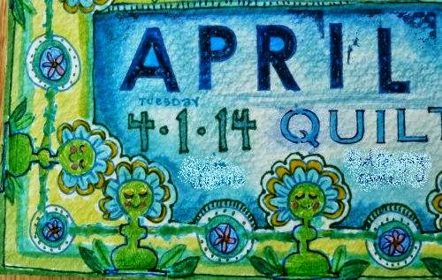 April 2014 StencilClub - Art Journal 2 - Janet Joehlin