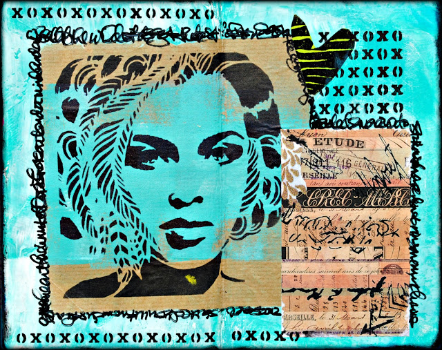 Apr2016 StencilClub - Art Journaling 1 - Mary Nasser