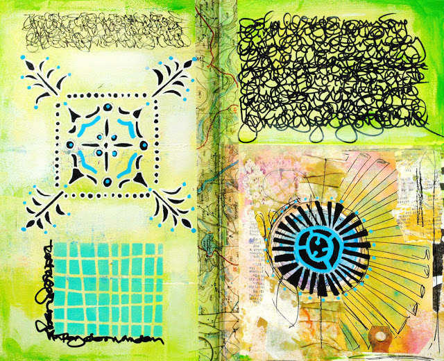Apr2016 StencilClub - Art Journaling 2 - Mary Nasser