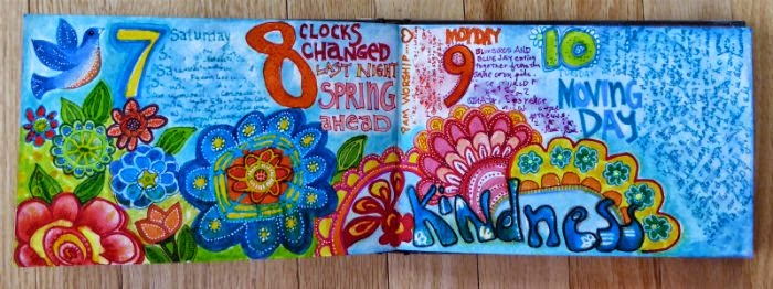 April 2015 StencilClub - Artist Journal Daily 1 - Janet Joehlin