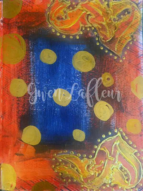 Dec2016 StencilClub - Art Journal Background - Gwen Lafleur