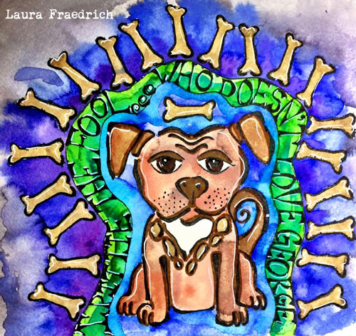 Art Journaling with Animal Stencils Tutorial - Laura Fraedrich