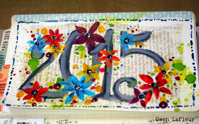 Art Journaling with Stencils and DecoArt Paints Tutorial - Gwen Lafleur