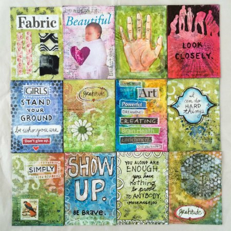 Artist Trading Cards with Stencils - Tutorial by Janet Joehlin