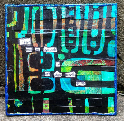 Aug2013 StencilClub - Mixed Media Canvas - Jessica Sporn