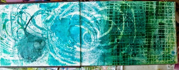 August 2014 StencilClub - Art Journal 1 - Janet Joehlin