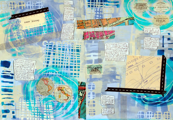 August 2014 StencilClub - Art Journal - Mary C. Nasser