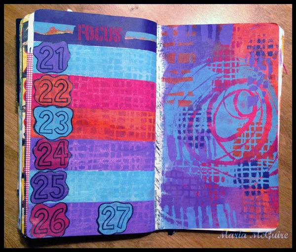 August 2014 StencilClub - DLP Art Journal - Maria McGuire