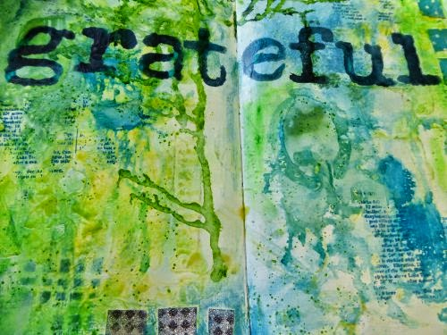 December 2014 StencilClub - Art Journal 3 - Janet Joehlin