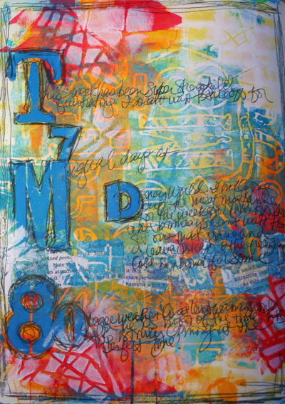 December 2014 StencilClub - Art Journal - Gwen Lafleur
