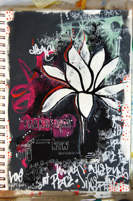 Graffiti Grunge with Stencils - Art Journal Tutorial - Martice Smith II