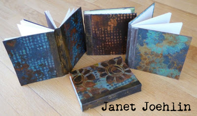 Handmade Books with Stencils and VerDay Paints - Tutorial by Janet Joehlin