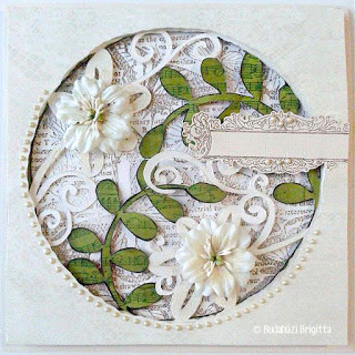 Handmade Window Card with Stencils - Tutorial by Brigitta Budahazi