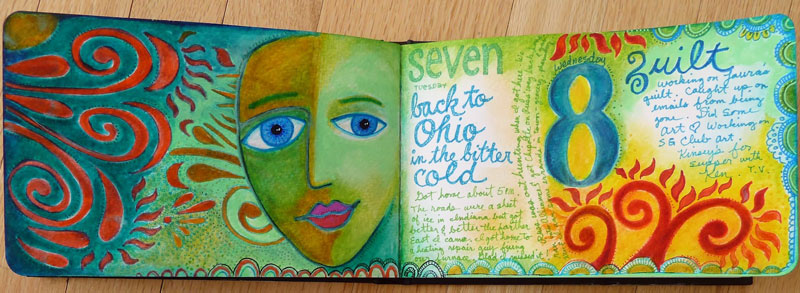 Jan2014 StencilClub - Art Journal 5 - Janet Joehlin
