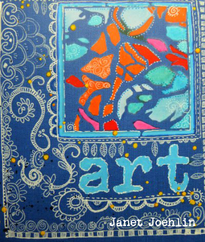 Jan2016 StencilClub - Art Journal Cover - Janet Joehlin
