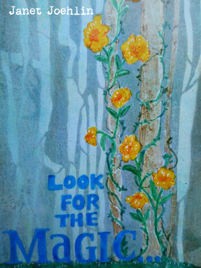 Jan2016 StencilClub - Art Journaling - Janet Joehlin