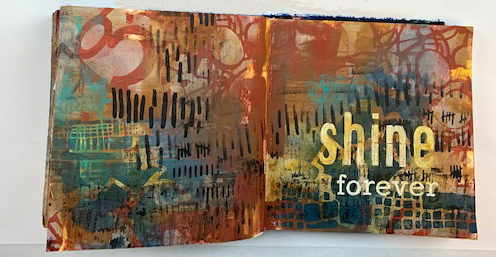 Jan 2019 StencilClub - Art Journaling - Mary Beth Shaw