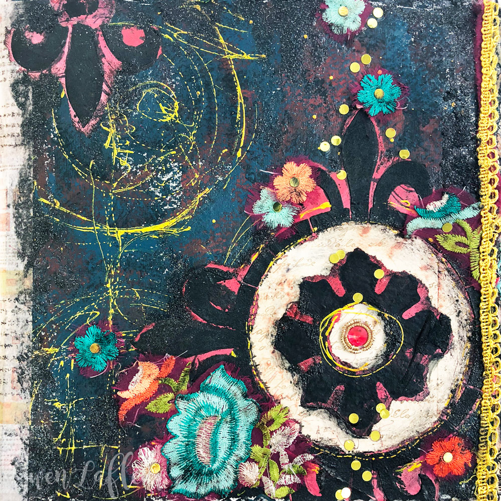 July2018 StencilClub - Art Journaling - Gwen Lafleur