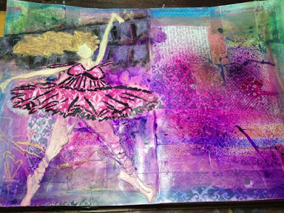 July2013 StencilClub - Art Journal - Heidi Bound