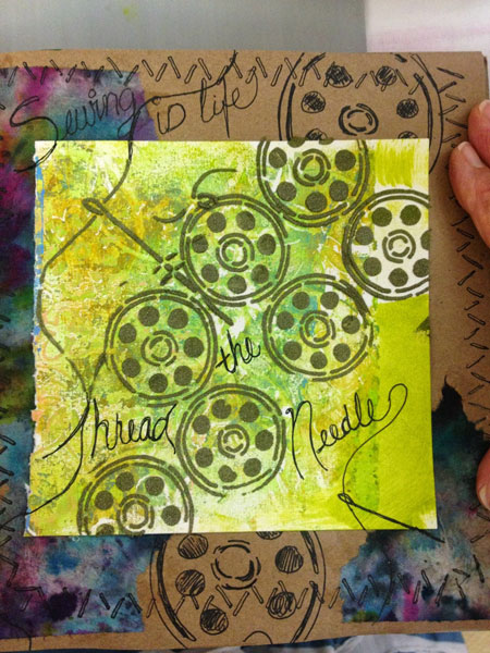 June 2014 StencilClub - Art Journal - Leslie Tucker Jenison