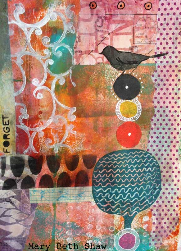 Stamped and Stenciled Art Journaling - Mary Beth Shaw