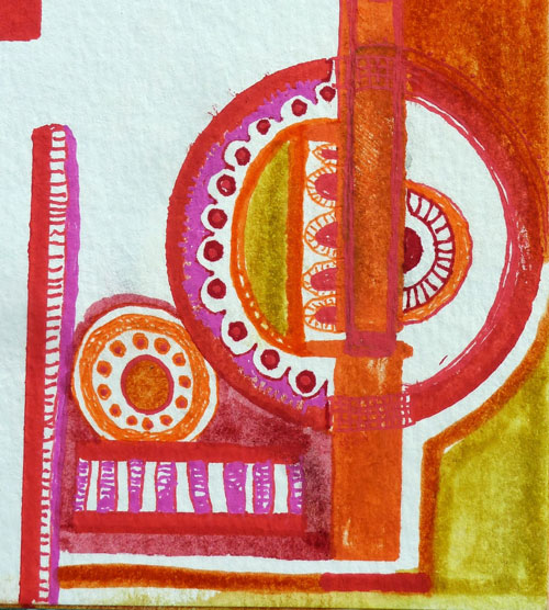 March 2014 StencilClub - Art Journal 2 - Janet Joehlin