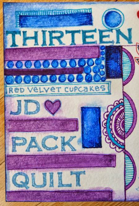March 2014 StencilClub - Art Journal 3 - Janet Joehlin