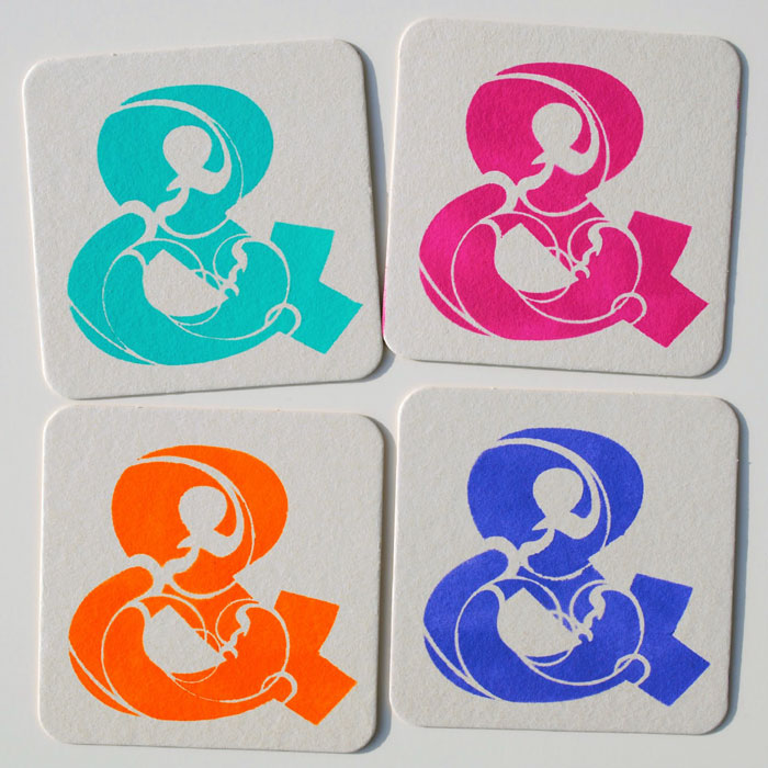 March 2014 StencilClub - Stenciled Coasters - Mary C. Nasser