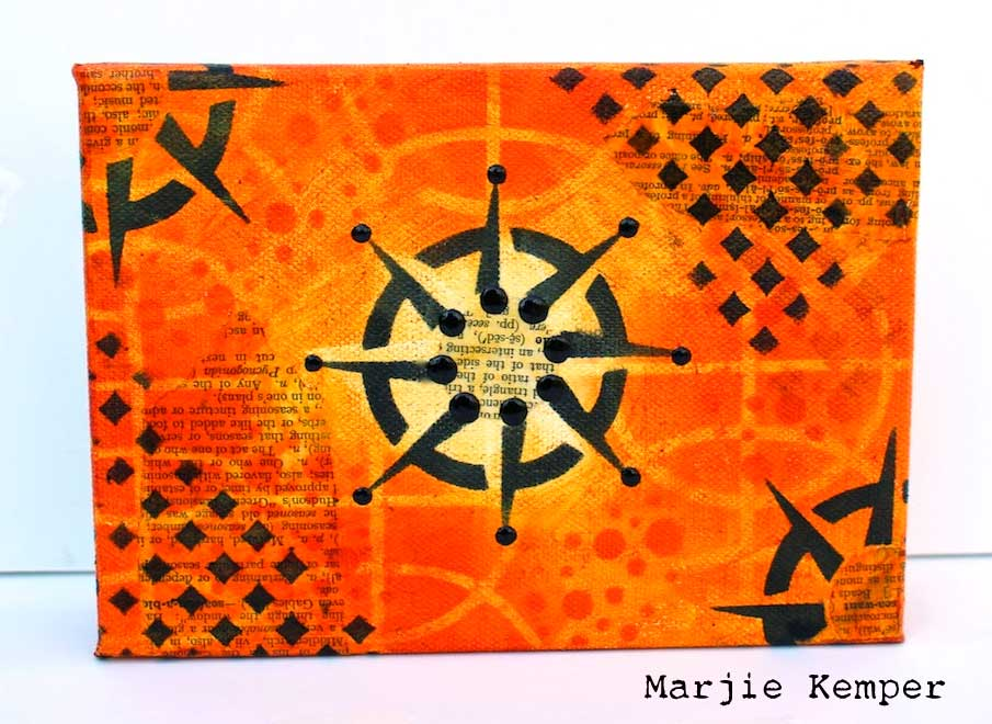StencilGirl Product Stencils on a Canvas Tutorial