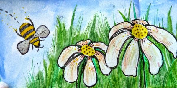 May 2014 StencilClub - Art Journal 4 - Janet Joehlin
