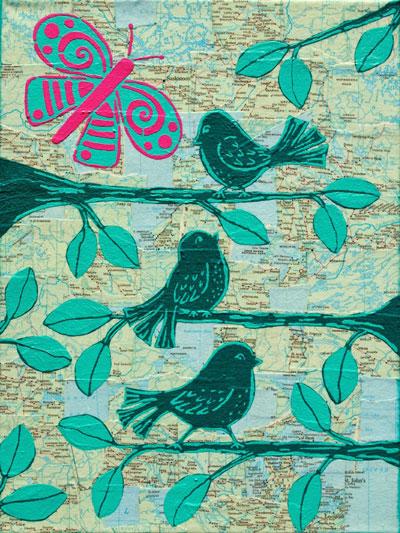May 2014 StencilClub - Art Journal - Mary C. Nasser