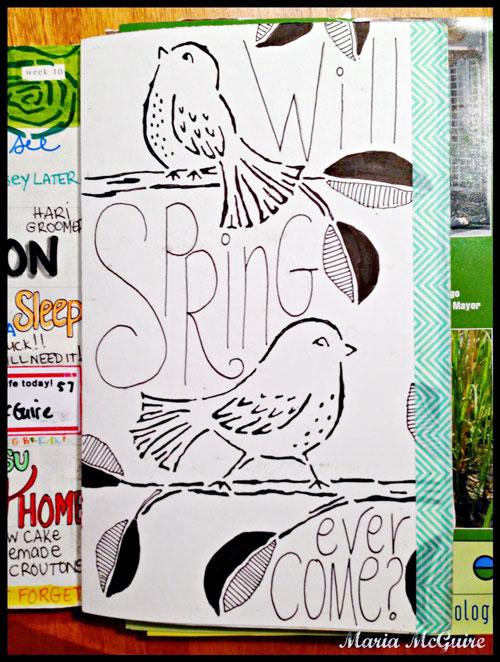 May 2014 StencilClub - DLP Art Journal - Maria McGuire