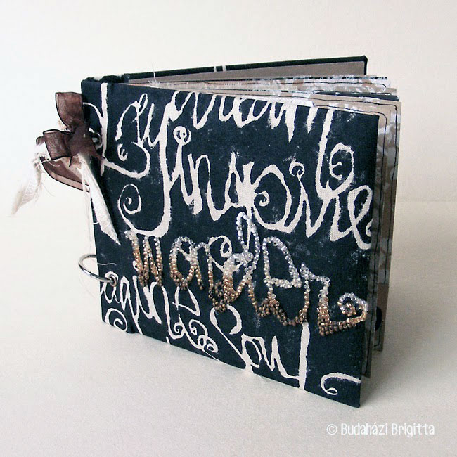 Stenciled Mixed Media Mini Album Tutorial - Brigitta Budahazi