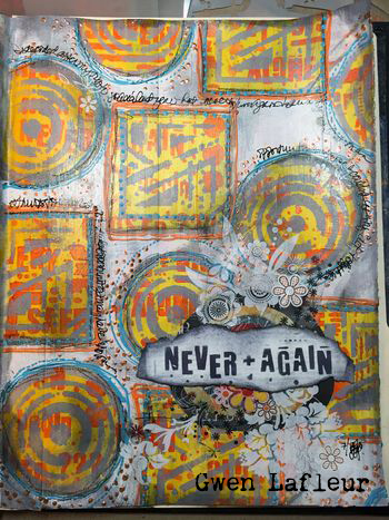Art Journal Tutorial with Seth Apter Stencils - Gwen Lafleur